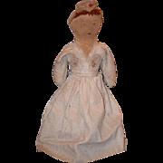 Old Doll Cloth Doll Rag Doll Folk Art Primitive Black Doll White Doll Topsy Turvy
