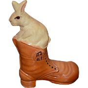Old Rabbit Bunny Celluloid Bunny in Boot Easter Adorable