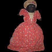 Old Doll Cloth Doll Rag Doll Black Doll White Doll Topsy Turvy Folk Art Primitive