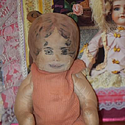 Old Doll Unusual Cloth Doll Rag Doll Jointed