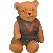 Old Teddy Bear Jointed Huge Doll Friend