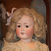 Antique Doll Bisque Cuno Otto Dressel Big Beautiful Girl W/ Wonderful Old French? Shoes