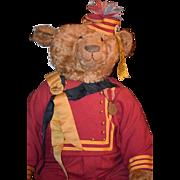 Vintage Teddy Bear HUGE Suzanne Adler Dressed Signed w/ Original Tag WONDERFUL