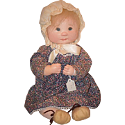 Vintage Doll Dianne Dengel Cloth Doll Artist Doll