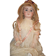 "Antique Doll Bisque French Market DEP Gorgeous Big Girl 25"" Tall"