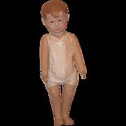Old Doll Cloth Doll Rag Doll Oil Cloth Adorable Boy Doll Pouty Face