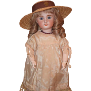 Antique Doll French Bisque Jumeau Petite Size Wonderful Face