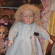 Antique Doll Bisque Kammer Reinhardt Pouty 114 Cabinet Size K Star R