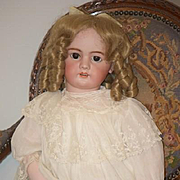 """Antique Doll French LARGE DEP W/ Crier Mechanism Dressed 32"""""""