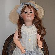 "Antique Doll S.F.B.J. TeTe Jumeau BIG BIG GIRL Fancy Clothes! 33"""