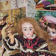 Antique Doll DEP French Market Human Hair Wig