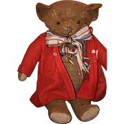 Old Teddy Bear Metal Nose Jointed