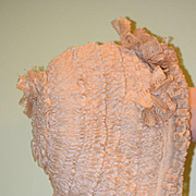 Antique Doll Child's French Lace Bonnet Ornate Hat for French Doll