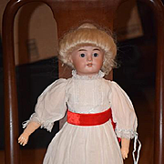 Antique Doll Bisque Unusual Mystery 2X  XX Beautiful Straight Wrist French Market