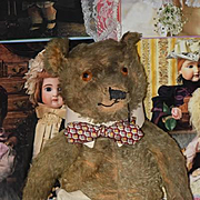 Old Teddy Bear Jointed Mohair ADORABLE BIG BEAR