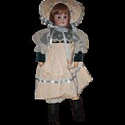Antique Doll Bisque CM Bergmann Simon & Halbig W/ Human Hair French Wig