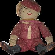 Old Doll Cloth Doll Rag Doll Folk Art Primitive Adorable