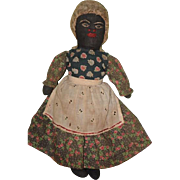 Old Doll Cloth Doll Black Doll Rag Doll Folk Art Primitive