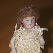 Antique Doll Miniature Dollhouse Doll All Bisque