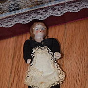 Old Doll Miniature Bisque Dollhouse Lady Maid