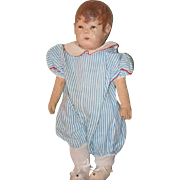 Antique Doll Kathe Kruse Oil Cloth Early Cloth Doll Rare Model Child Series 1 Adorable