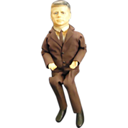 Vintage 1963 JFK John F. Kennedy Doll Mechanism Doll Political