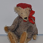 Vintage Teddy Bear Artist Bear Jointed Mohair Signed LOUISE Perfect for your Doll To Hold