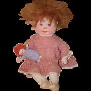 Vintage Dianne Dengel Cloth Artist Doll W/ a Raggedy Ann Too cute!