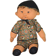 Vintage Doll Dianne Dengel Cloth Character Doll Oriental Character