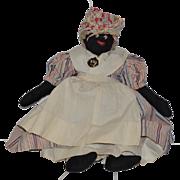 Old Doll Cloth Doll Black Doll Rag Doll Folk Art Primitive
