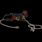 Old Doll Monkey Metal Working Mechanical Tin Toy Marx Zippo