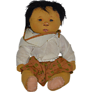 Vintage Doll Dianne Dengel Cloth Doll Rag Doll Oriental Artist Doll