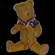 Old Teddy Bear Mohair Jointed Glass Eyes