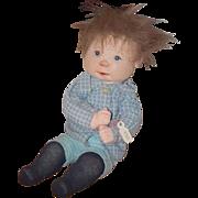 Vintage Doll Dianne Dengel Artist Doll OOAK Character Cloth Doll