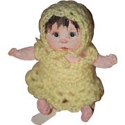 Vintage Doll Dianne Dengel Cloth Doll Artist Doll Character Baby W/ Chic