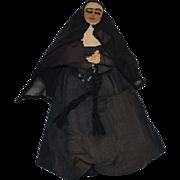 Old Doll Cloth Doll NUN NUNN Bullock's Stockinette Doll W/ Tag