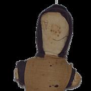 Old Doll Folk Art Rag Doll Cloth Primitive Faceless