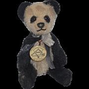 Teddy Bear Miniature Teddy Bears of Witney Panda Bear Jointed Mohair Artist