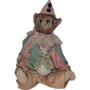 Vintage Teddy Bear Bell Bears Designs Bear with Long Snout and Small Doll Jester Clown