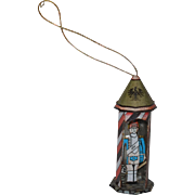 Old Doll German Tin Litho Miniature Soldier in Tin Building