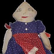 Old Doll Cloth Doll Rag Doll Folk Art Unusual