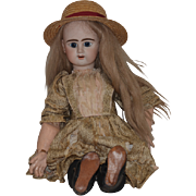 Antique Doll French Bisque ED Etienne Denaumur E 12 D Gorgeous Old Shoes