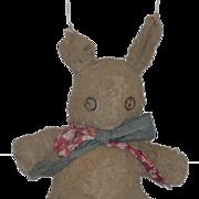 Old Doll Toy Rabbit Stuffed Tin Eyes Wonderful Bunny