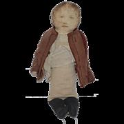 Old Doll Cloth  Doll Rag Doll Early Printed Face Folk Art