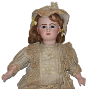 Antique Doll French Bisque Bebe Commissioned Model R. R. Gorgeous Closed Mouth