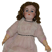 Antique Doll Kestner Bisque Large Beauty Closed Mouth Unusual Red Stamped Body