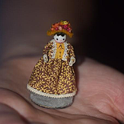 Wonderful Doll Artist Marion Mullins Miniature Dollhouse Signed