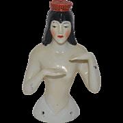 Old Doll Half Doll China Head Cleopatra German