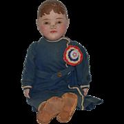 Antique Doll Philadelphia Baby Wonderful Cloth Doll Oil Painted Cloth
