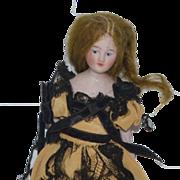 Antique Doll Miniature Bisque Dollhouse Lady Doll